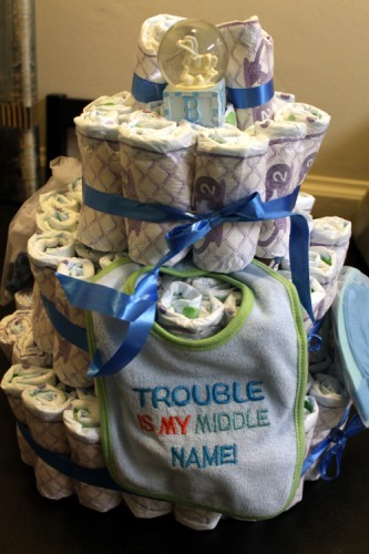 Diaper Cake for a Boy
